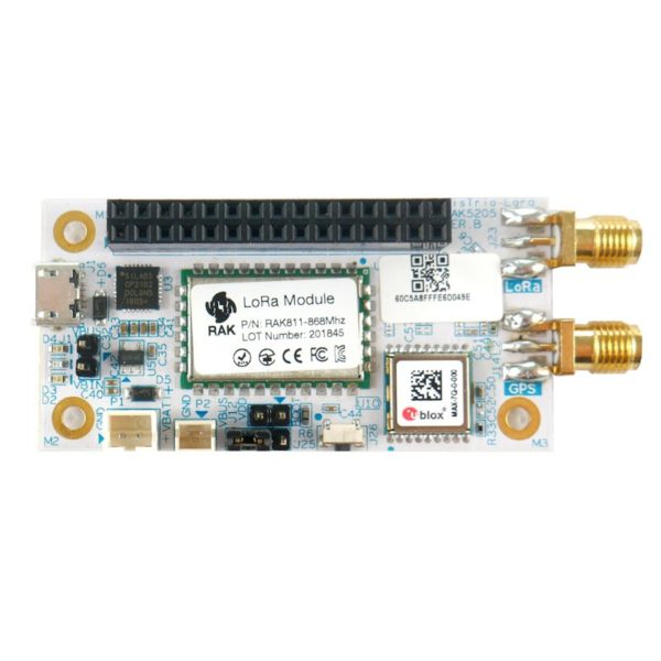 RAK 5205 LoRa tracker board from RAK Wireless. Ideal as a quick prototyping tool for IoT and LoRaWAN integration.